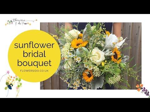 Sunflower wedding bouquet youtube sunflower wedding bouquet junglespirit Image collections