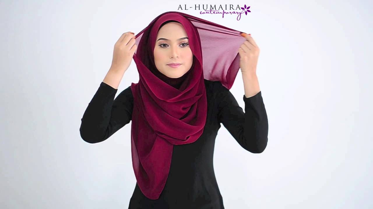 Amber shawl styling tutorial by al-humaira contemporary youtube.