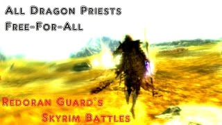 Skyrim Battles - All Dragon Priests Free-for-All [Legendary Settings]