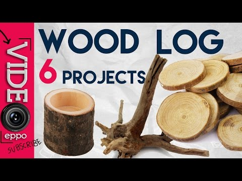 Turning wood log into 6 awesome DIY  home decor stuff