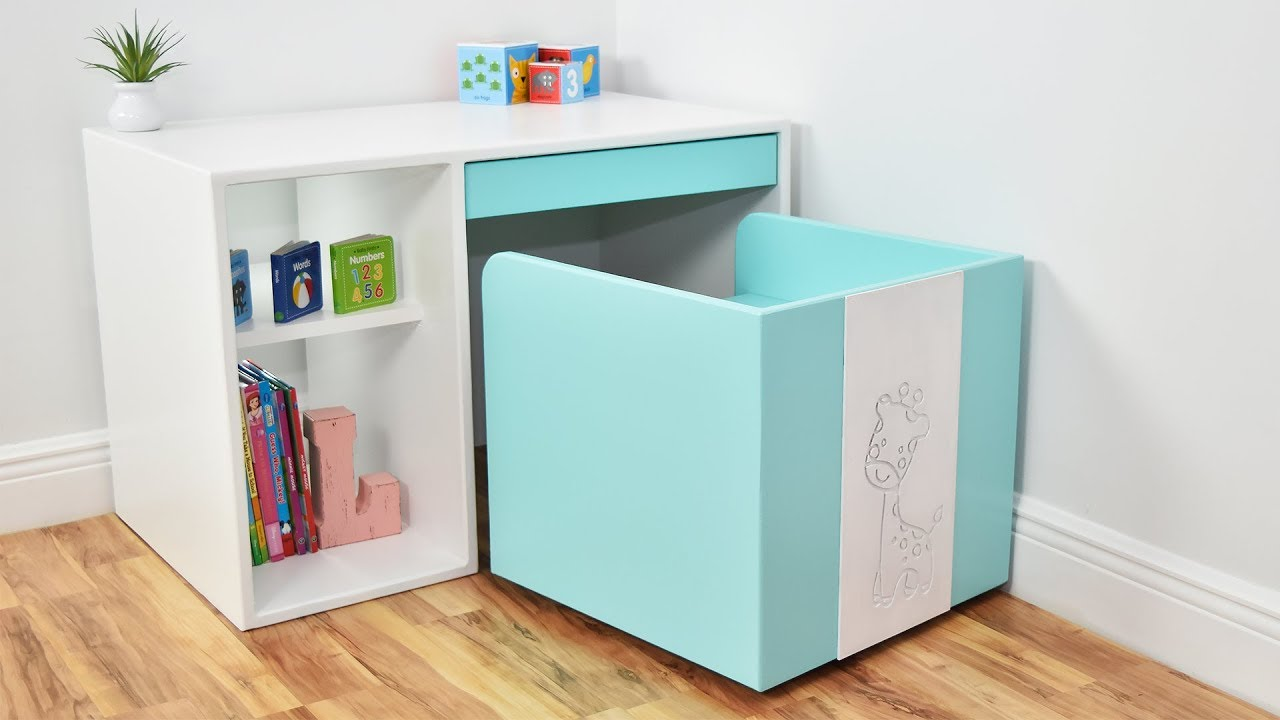 Modern DIY DESK and CHAIR ( for Kids ) - YouTube