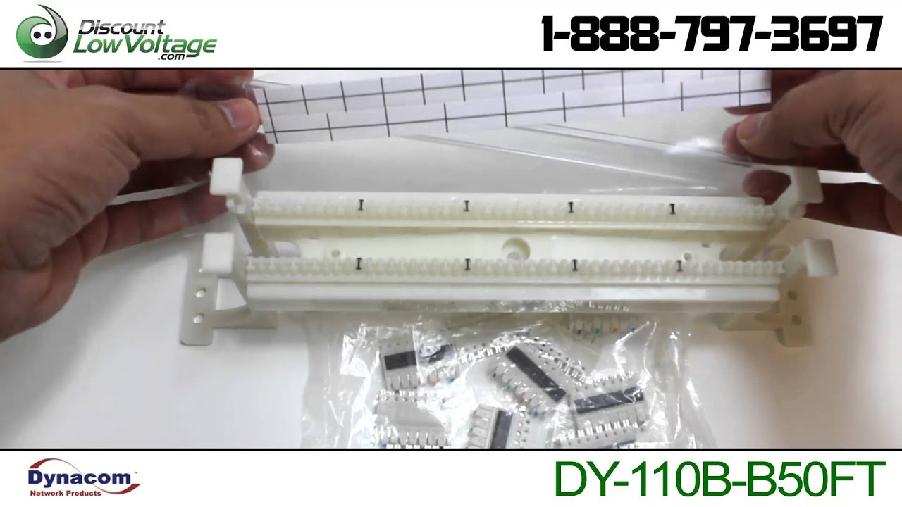 50 Pair 110 Wiring Block Kit Discount Low Voltagecom Youtube