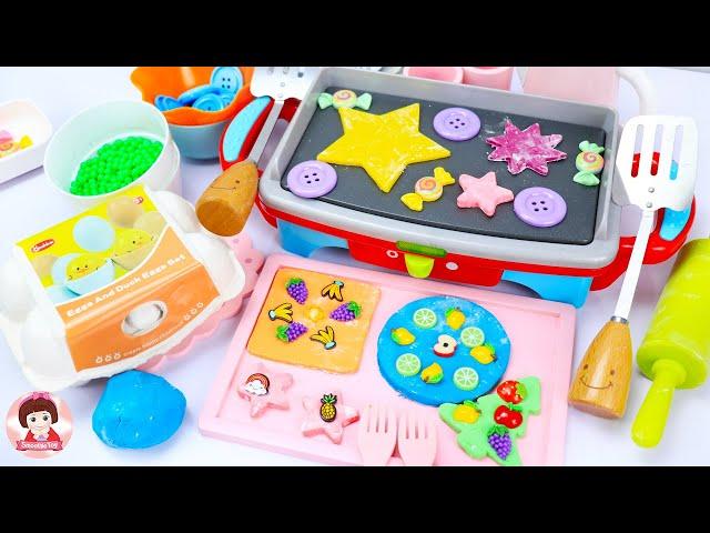 ละครสั้น คุณแม่ทำขนมคุกกี้ให้เจ้าหญิงอันนาเจ้าหญิงเอลซ่า ของเล่นแป้งโดว์เรียนรู้สีของเล่นเครื่องครัว