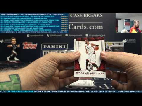 2016 17 Panini Limited Basketball Single Box Break for Aaron S