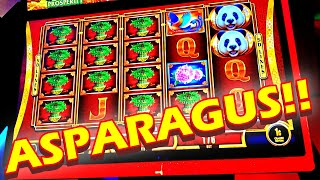 ASPARAGUS!!! * MOM LOWROLLER USES HER FREEPLAY ON ONE OF HER FAVORITE GAMES! - Las Vegas Casino Slot