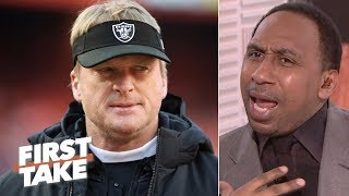 Stephen A. calls out new Raiders GM Mike Mayock for Jon Gruden comments | First Take
