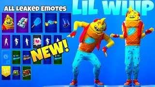 All LEAKED EMOTES With ICE CREAM MAN SKIN..! Fortnite Battle Royale
