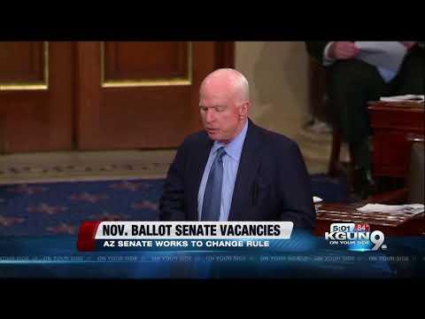 Arizona Senate moves to change rules for replacing McCain