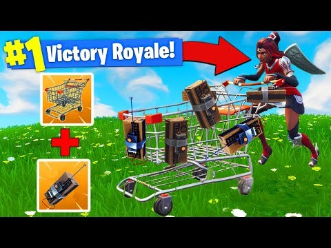 EXPLOSIVE *C4* SHOPPING CART STRATEGY In Fortnite Battle Royale!