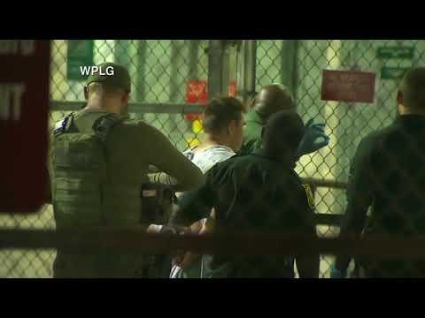 Suspected south Florida school shooter Nikolas Cruz arrives at the Broward County Jail