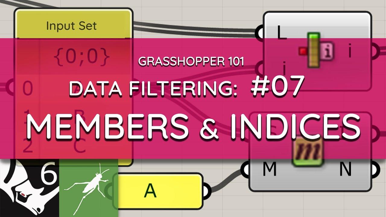 Grasshopper 101: Data Filtering   #07 Item Index, Member Index, List Item