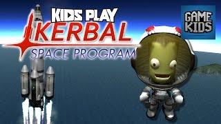 Burnie, JD And Teddy Play Kerbal Space Program Part 1 - Kids Play