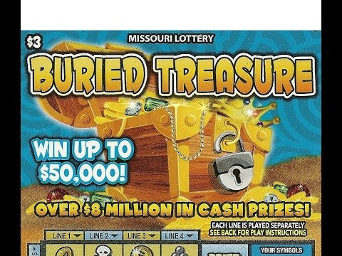 $3 BURIED TREASURE Missouri Lottery Scratcher FULL BOOK - Part 1/3.
