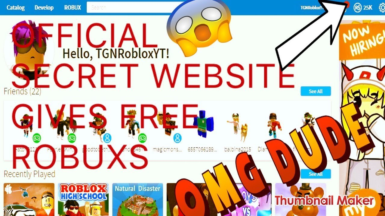 (NEW)*Secret*WEBSITE GIVES FREE ROBUX!/WITH PROOF!! - YouTube