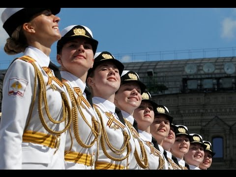 Beautiful Russian Female Military Parade 2017 - Russian Army Parade, Victory Day 2017 Парад Победы