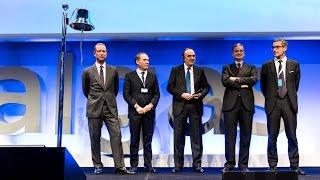 Borsa Italiana, la cerimonia di quotazione di Italgas