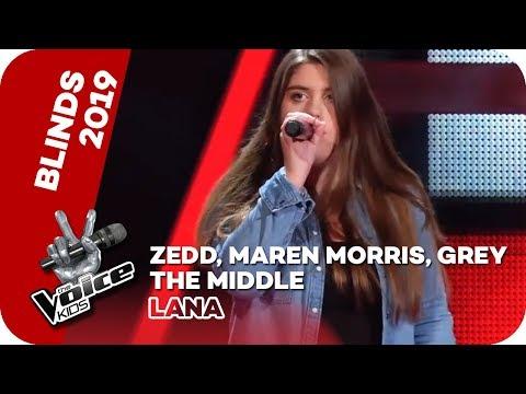 Zedd, Maren Morris, Grey - The Middle (Lana)   Blind Auditions   The Voice Kids 2019   SAT.1