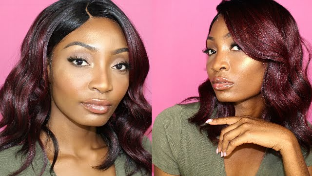 Kim K Inspired Long Bob Freetress Equal Eternity Wig Review Miss Cameroon Youtube