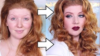 Bombshell Full Face Makeup Tutorial | GLAM Transformation