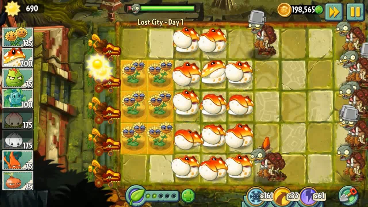 Plants vs zombies 2 lost city part 1 and toadstool youtube voltagebd Gallery
