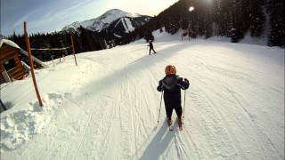 First time skiing at lake louise for my boys.