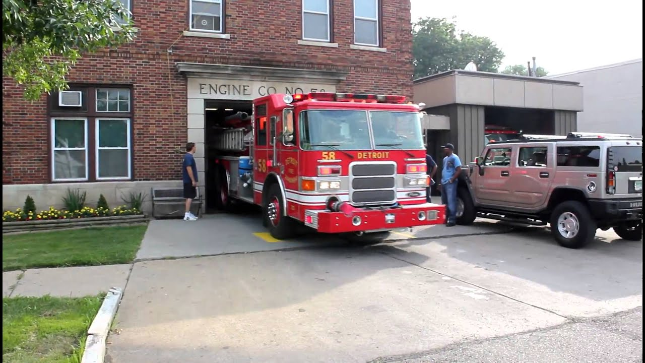 Detroit Fire Department Engine 58 - YouTube