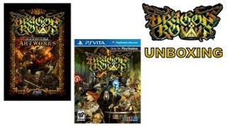 Dragon's Crown PS VITA - Dragon's Crown - PS VITA - Unboxing With Art Book Flick Through