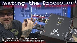 Testing the Processor! JL Audio TWK-88 Crossover/EQ - Clean Optical Inputs - Escalade Install Vid 4
