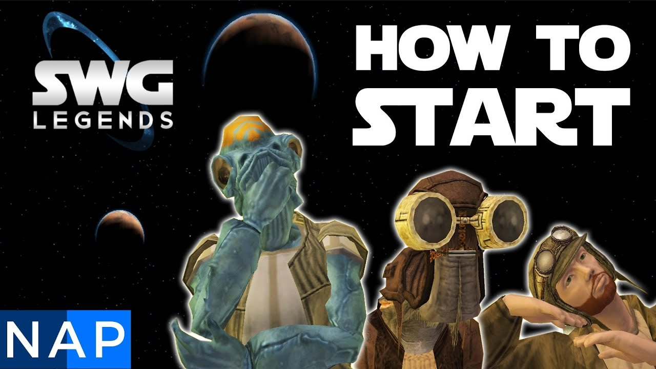 SWG LEGENDS How To Start - Star Wars Galaxies Beginners Guide