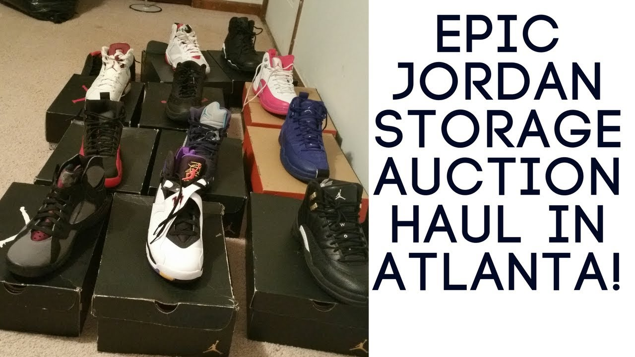 Jordan Flu Games Storage Auction Haul In Atlanta!!! HEAT FOUND!