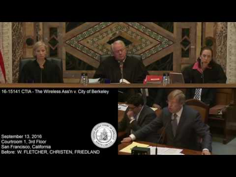 Berkeley Cell Phone Right To Know Oral Arguments 9/2016 :  Theodore Olson and Lawrence Lessig