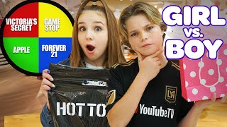 MYSTERY WHEEL SHOPPING CHALLENGE (GIRLS vs BOYS)**APPLE WATCH** | Piper Rockelle
