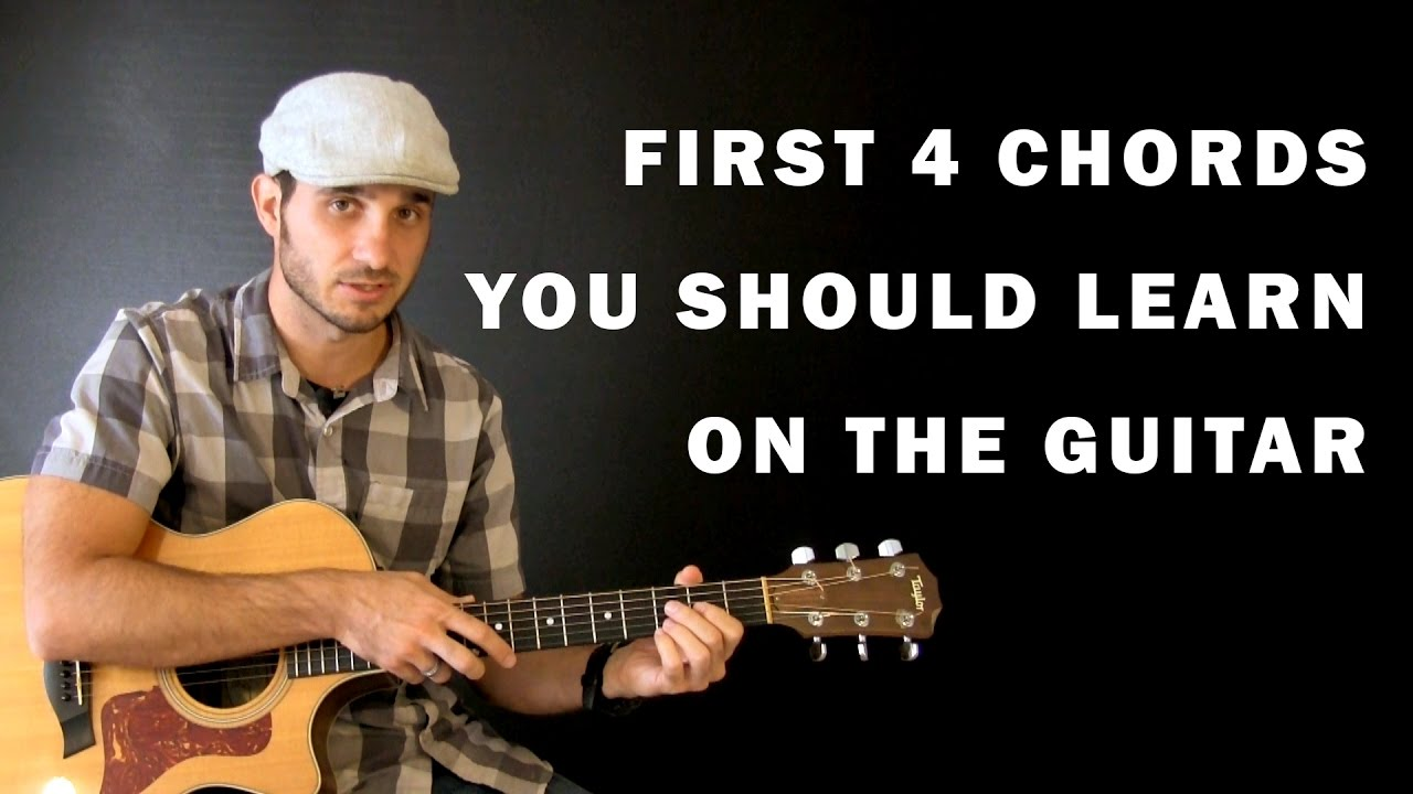 First Four Chords You Should Learn Beginner Guitar Lesson Youtube