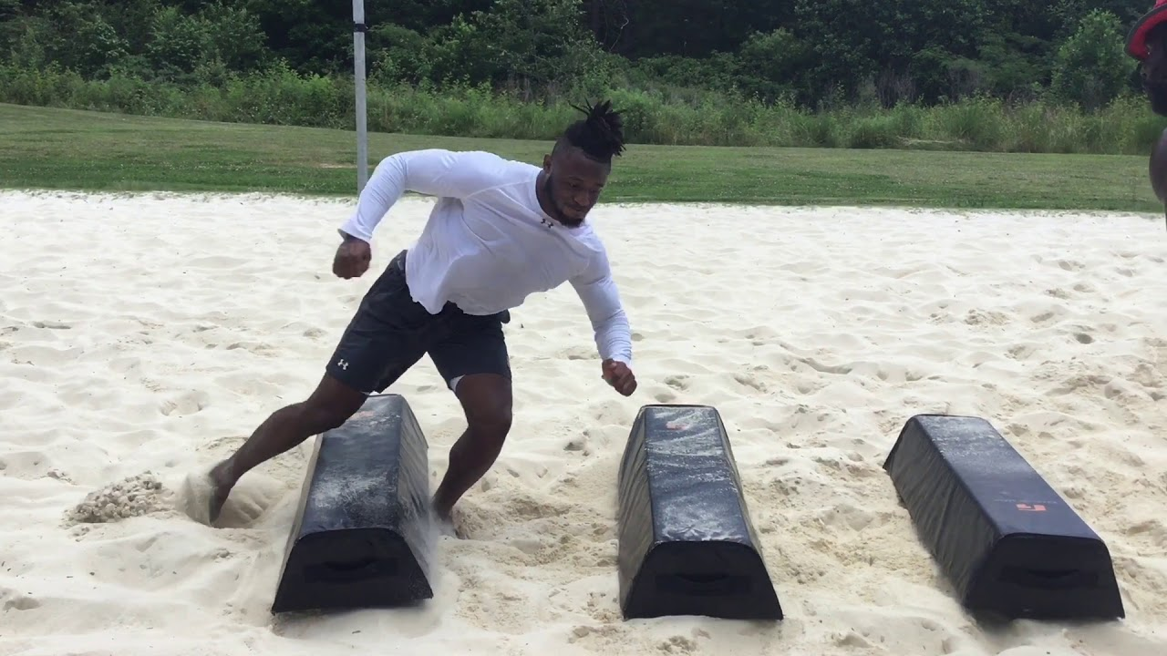 MWHSports | Owen Pappoe #10 Auburn University | Sand Pit Training