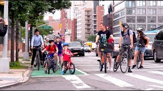 Go Fourth and Ride: Families Celebrate Brooklyn's 4th Ave Protected Bike Lane