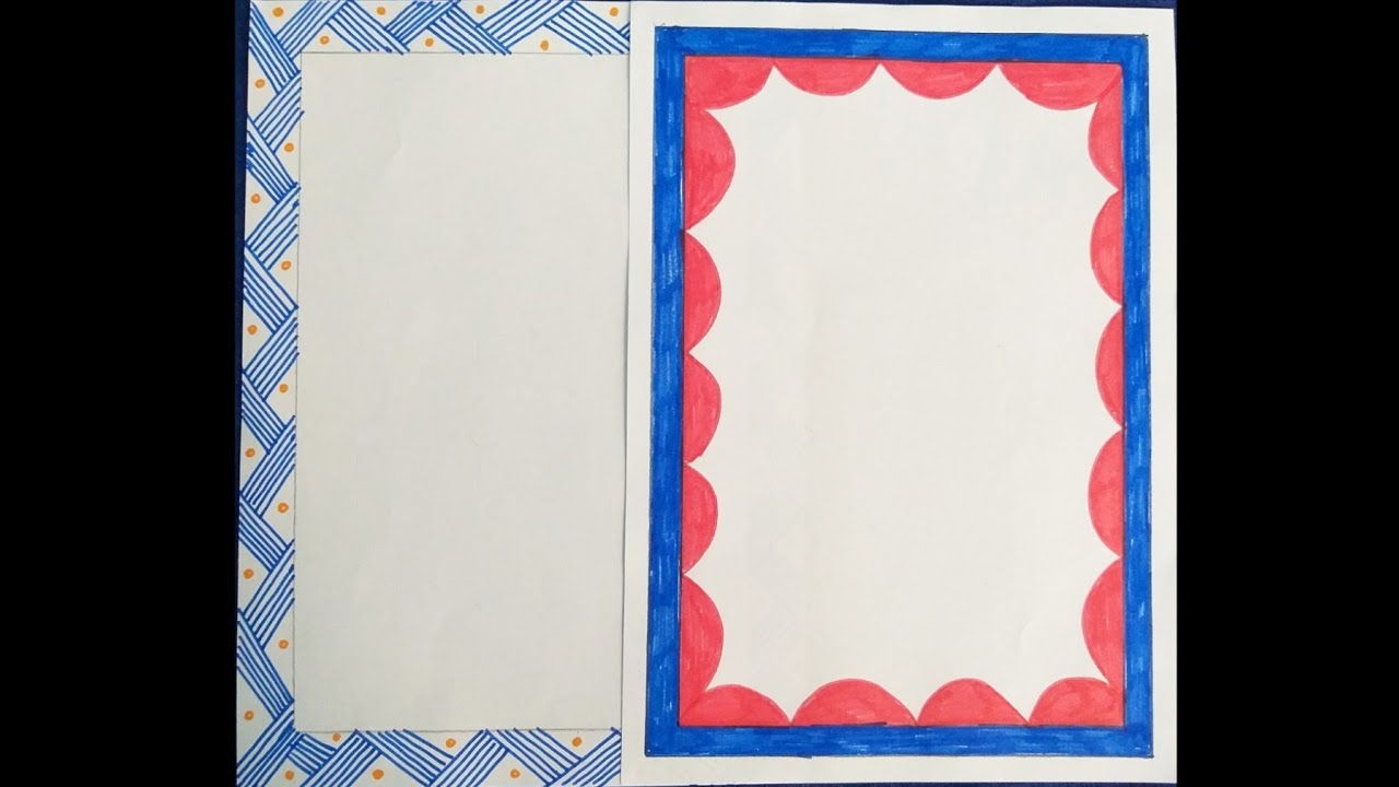 borders on paper kids assignment front page border design