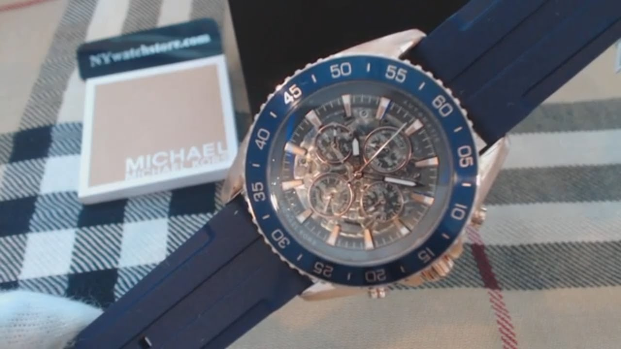 d8d8b2446d74 Men s Michael Kors Jetmaster Automatic Watch MK9025 - YouTube