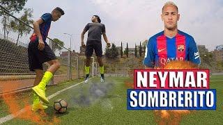 juega como neymar como hacer un sombrero al estilo neymar jugadas caños fintas de futbol