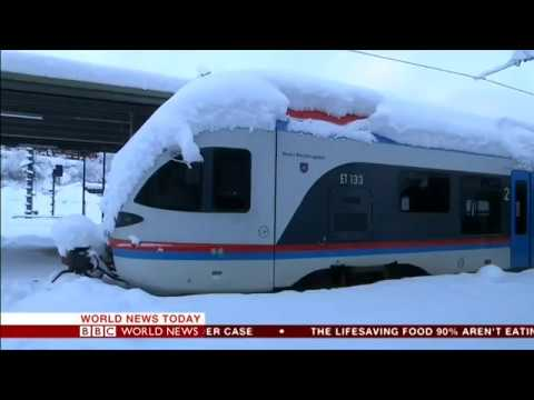 BBC WORLD NEWS - January snow storms in Europe
