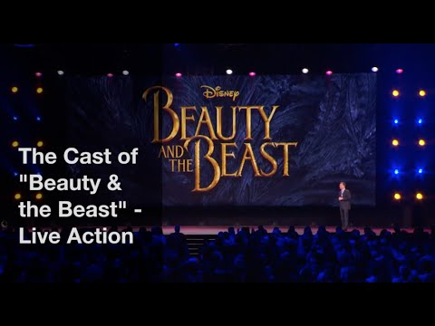 Disney's Beauty and the Beast - Live Action Cast 2017 w Emma Watson, Dan Stevens