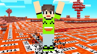 Playing MINECRAFT But The ENTIRE MAP IS TNT!