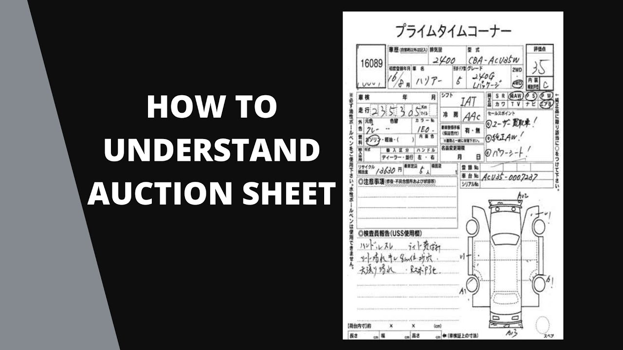 Auction Sheet | How to read USS Auction Sheet of Japanese ...