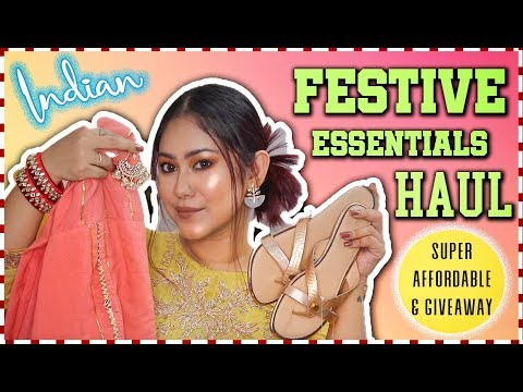 Affordable HAUL Indian FESTIVAL Essentials | Jewellery, Kurtis, Home Decor | ThatQuirkyMiss