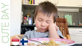 ADORABLE TODDLER FALLING ASLEEP WHILE EATING AT THE TABLE | FUNNY BABIES VIDEOS