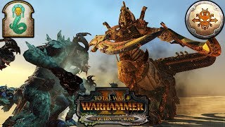 CLASH OF TITANS 2V2 - Tomb Kings vs. Norsca - Total War Warhammer 2 Gameplay