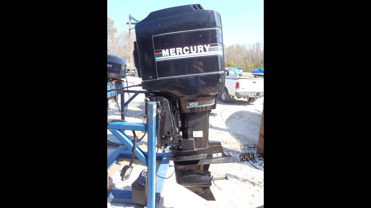6m1322 1993 used mercury 100elpto 100hp 2 stroke remote outboard rh youtube com Mercury Outboards 1999 Mercury