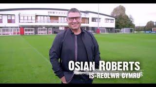 Osian Roberts - is-reolwr Cymru | CIC