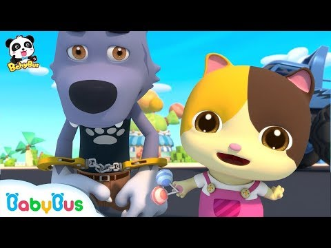 Baby Kitten Catches Big Bad Wolf | Super Panda Rescue Team | Monster Cars | Kids Song | BabyBus
