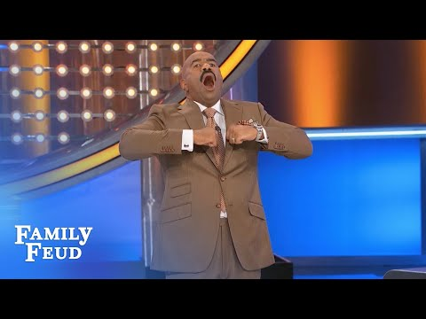 The NEUHARTS show Steve their HAKA!!! | Family Feud