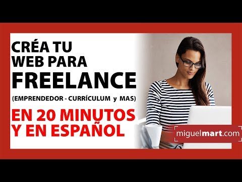 Créa tu Web para FREELANCE en 20 minutos Español 2018